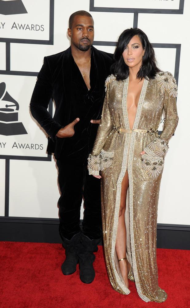 Kanye West, Kim Kardashian, 57th Annual Grammy Awards, Arrivals, Los Angeles, America - 08 Feb 2015