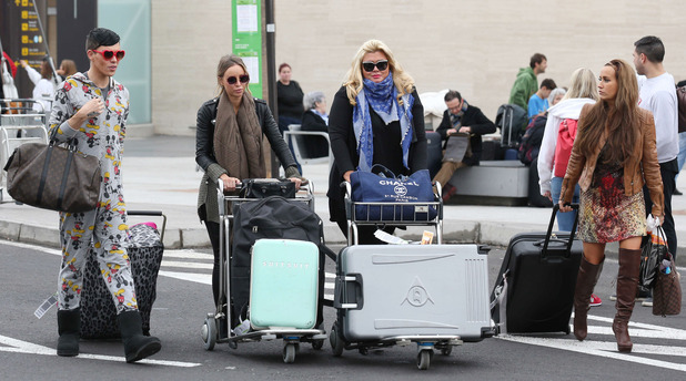 'The Only Way is Essex' Cast in Tenerife, Spain - 09 Feb 2015 Bobby Norris, Gemma Collins, Lauren Pope, Leah Wright