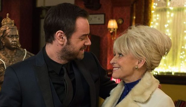 EastEnders' Danny Dyer and Barbara Windsor in the Queen Vic - 9 February 2015.