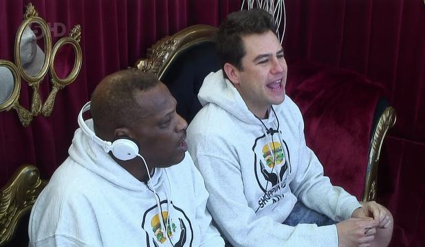 Celebrity Big Brother's Kavana and Alexander O'Neal during singing task - 13/1/2015.