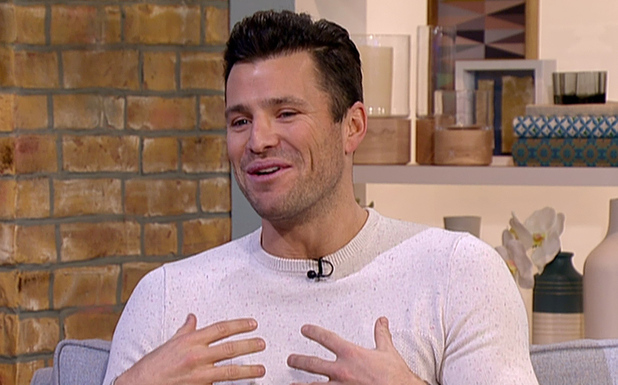 Mark Wright appears on This Morning to talk about presenting 'Take Me Out: The Gossip'. 10 February 2015.