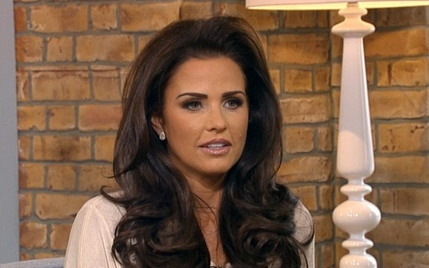 Katie Price on ITV's This Morning - 13 February 2015.