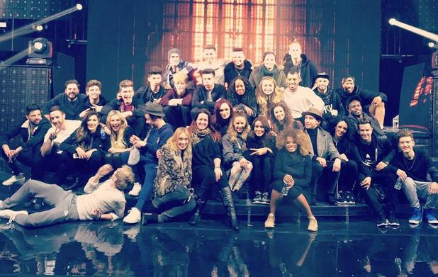 Lauren Platt shares X Factor group shot from tour rehearsals - 10 Feb 2015