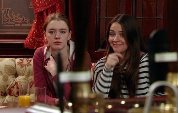 Amy James-Kelly and Brooke Vincent in Coronation Street.