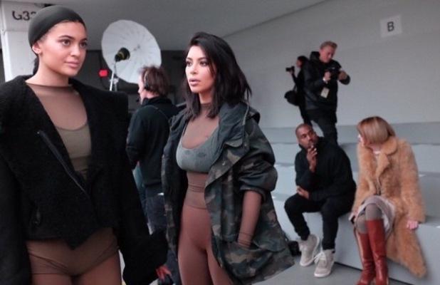 Kim Kardashian's sister Kylie models at Kanye West's NYFW show - 12 Feb 2014