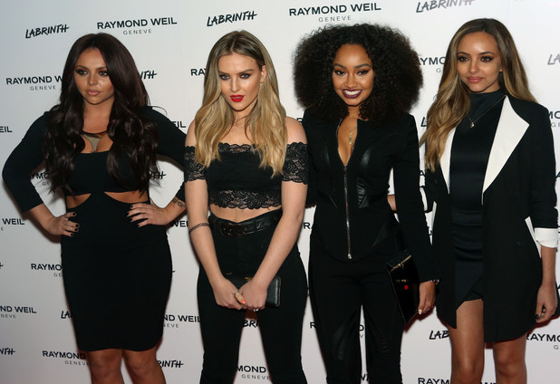 Little Mix at pre-Brits party, 12/2/15  - Jessy Nelson, Perrie Edwards, Leigh-Anne Pinnock, Jade Thirwall