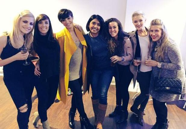 Pregnant Frankie Bridge reunites with the Strictly Come Dancing crew on tour - 7 February 2015.