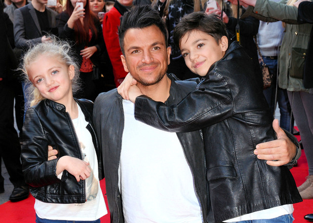 Peter Andre, Princess and Junior at Mr Peabody and Sherman VIP Gala screening at the Vue Cinema, Leicester Square, London - 1/2/2014