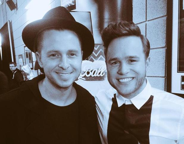 Olly Murs with Ryan Tedder in recent photo - 10 February 2015.