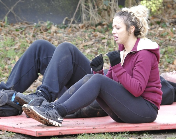 Holly Hagan attends No 1 Boot Camp in Norfolk, 10 Feb 2015