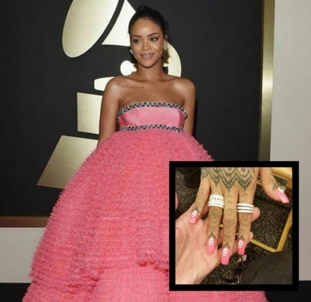 Rihanna wears Orly nail polish to Grammy Awards on Sunday 9 February 2015