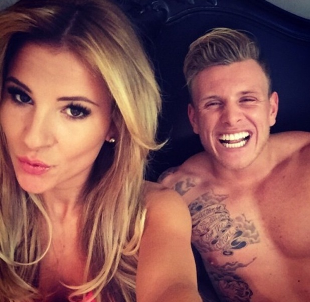 Georgia Kousoulou and Tommy Mallet take a selfie after TOWIE filming 10 February