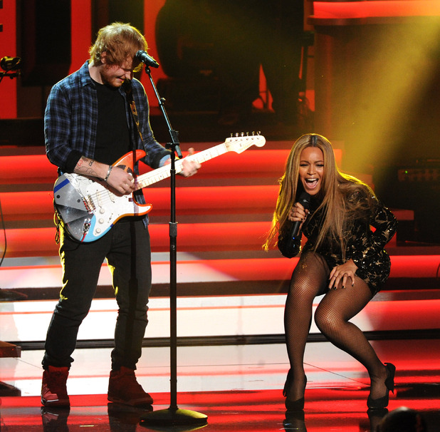 Ed Sheeran and Beyonce at Stevie Wonder: Songs In The Key Of Life - An All-Star Grammy Salute - Los Angeles, America - 10 Feb 2015