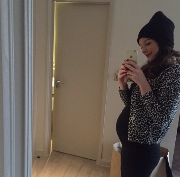Pregnant Helen Flanagan shows off baby bump in new mirror selfie  - 8 February.