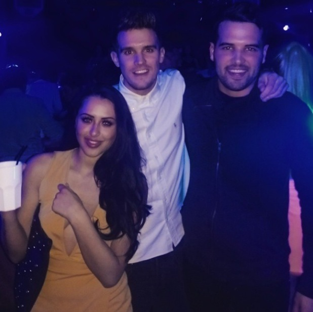 TOWIE's Ricky Rayment and Geordie Shore's Marnie Simpson, Gary Beadle party together in London - 12 February 2015.