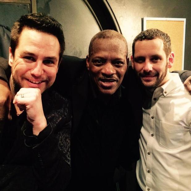 Singer Kavana with boyfriend Neil Ely and Alexander O'Neal, 14 February 2015