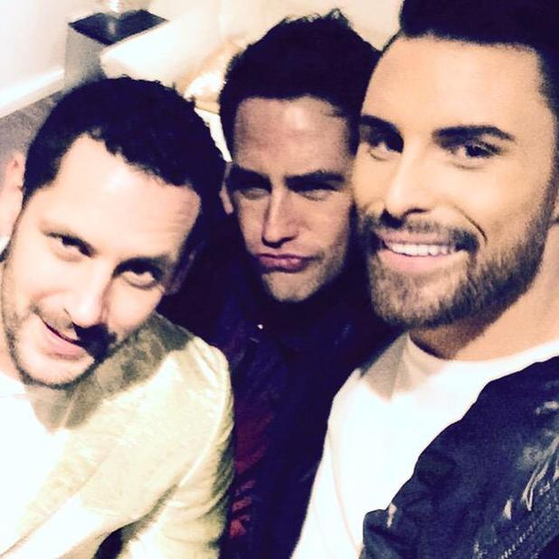 Singer Kavana with boyfriend Neil Ely and Rylan Clark, 6 February 2015