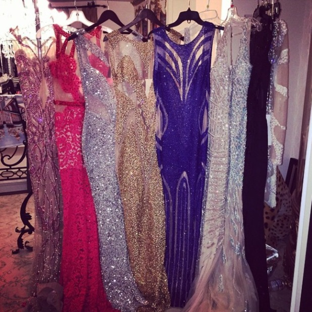 Paris Hilton shows off her dress choices for Grammy 2015 Awards, 8 February 2015