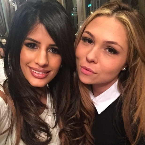 Jasmin Walia and Fran Parman film for the new series of TOWIE, Essex 11 February