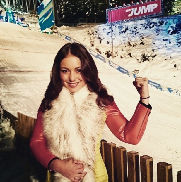 Louise Thompson appears on Channel 4's The Jump, 1 February 2015