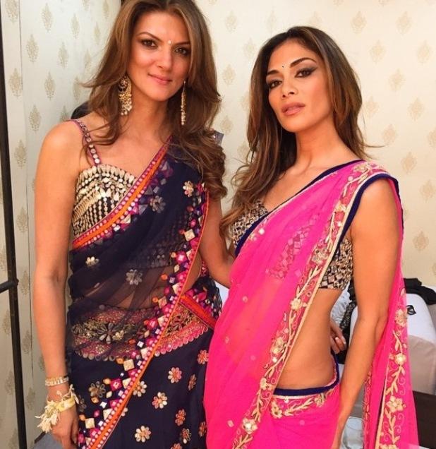 Nicole Scherzinger looks stunning in pink sari ahead of wedding performance - 12 February 2015.