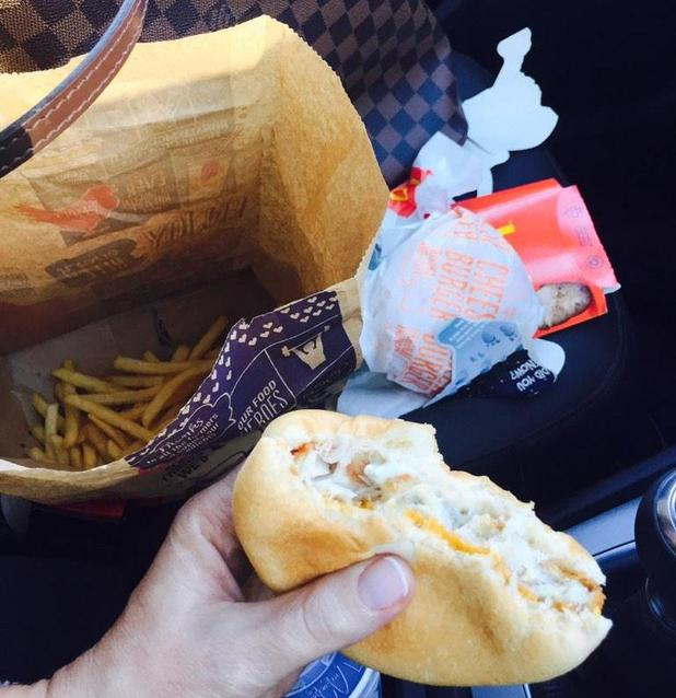 Michelle Heaton treats herself to McDonald's - 9 February 2015