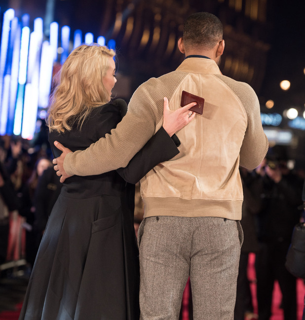 Margot Robbie and Will Smith at the special screening of 'Focus' at Vue West End - Red Carpet Arrivals. 02/11/2015 London, United Kingdom