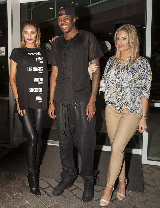 Danielle Armstrong, Chloe Sims and Vas J Morgan out in Tenerife 12 February