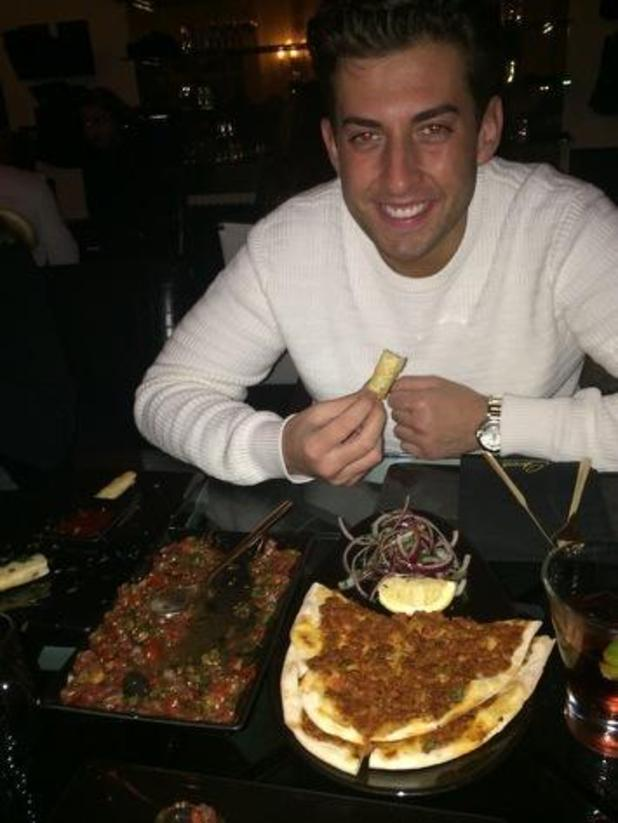 James 'Arg' Argent enjoy dinner with Mark Wright at Sheesh Chigwell - 9 February 2015