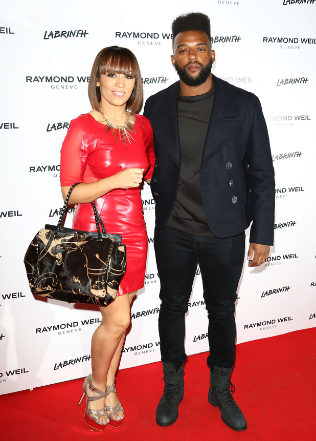 AJ Azari and Oritse Williams attend as Labrinth hosts Raymond Weil Pre-BRIT Awards dinner at The Mosaica on February 12, 2015 in London, England.