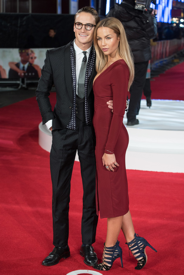 Oliver Proudlock and Emma Louise Connolly at the special screening of 'Focus' at Vue West End - Red Carpet Arrivals 02/11/2015 London, United Kingdom