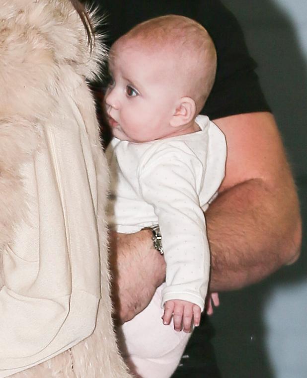 Kieran Hayler and daughter Bunny Hayler 13 Feb 2015