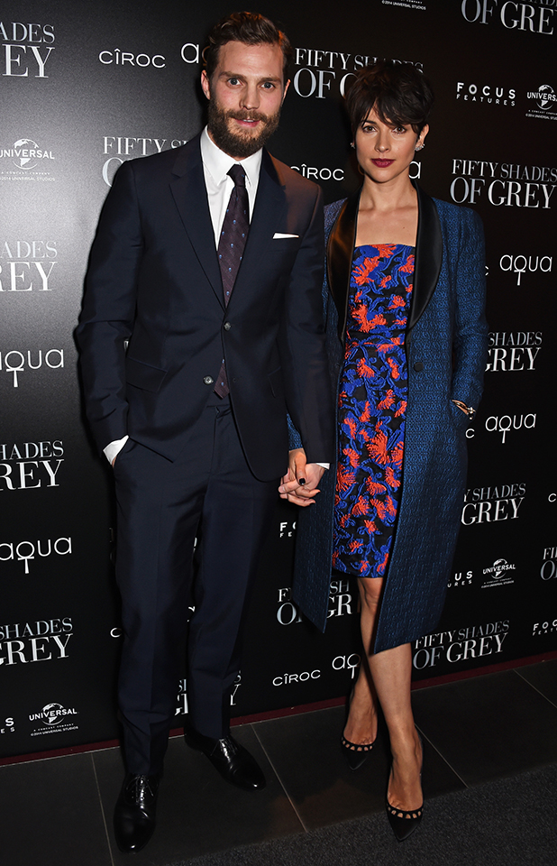 Jamie Dornan (L) and Amelia Warner attend an after party following the UK Premiere of 'Fifty Shades Of Grey' at aqua London on February 12, 2015 in London, England.