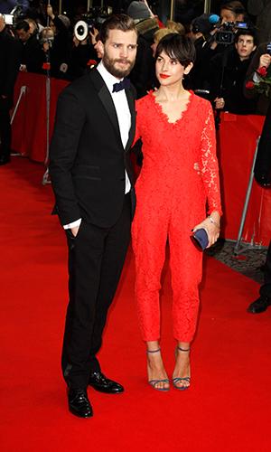 Amelia Warner and Jamie Dornan at 65th Berlin Film Festival (Berlinale) - 'Fifty Shades of Grey' premiere, 11 February 2015
