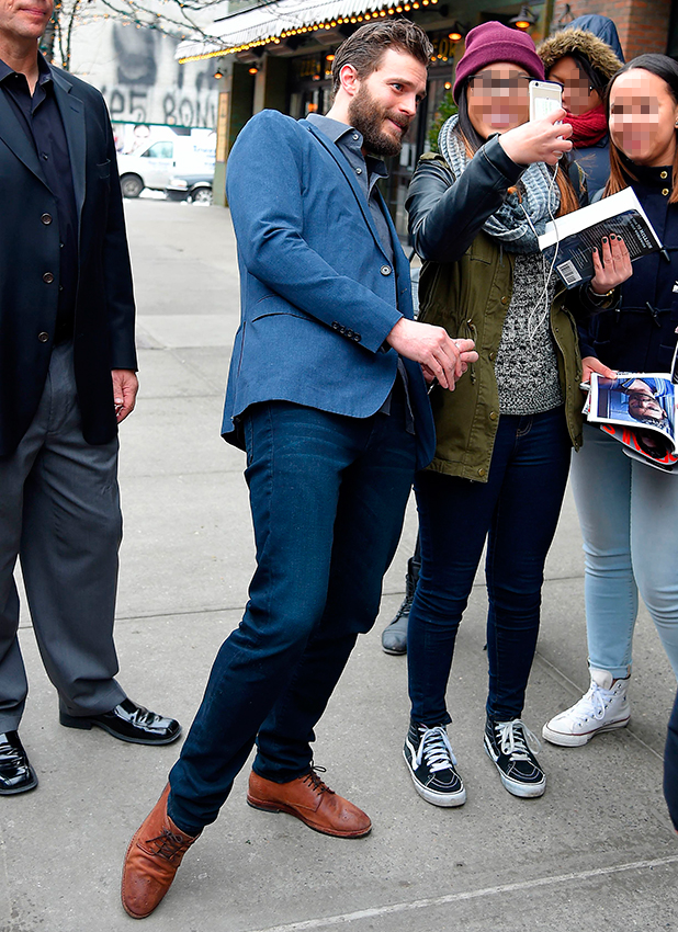 Jamie Dornan out and about, New York, America - 07 Feb 2015