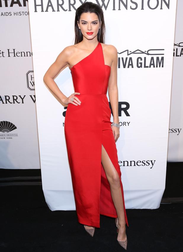 Kendall Jenner at amfAR Gala in New York on 11 February 2015