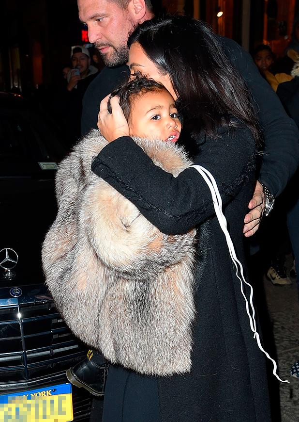 Kim Kardashian out and about, New York, America - 11 Feb 2015