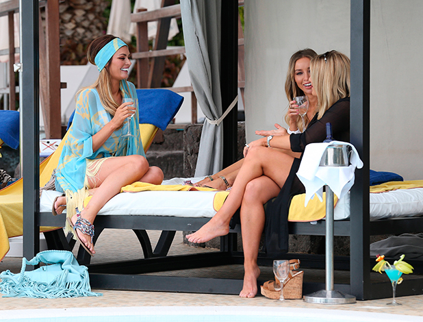 'The Only Way is Essex' Cast in Tenerife, Spain - 10 Feb 2015 Chloe Sims, Lauren Pope and Danielle Armstrong
