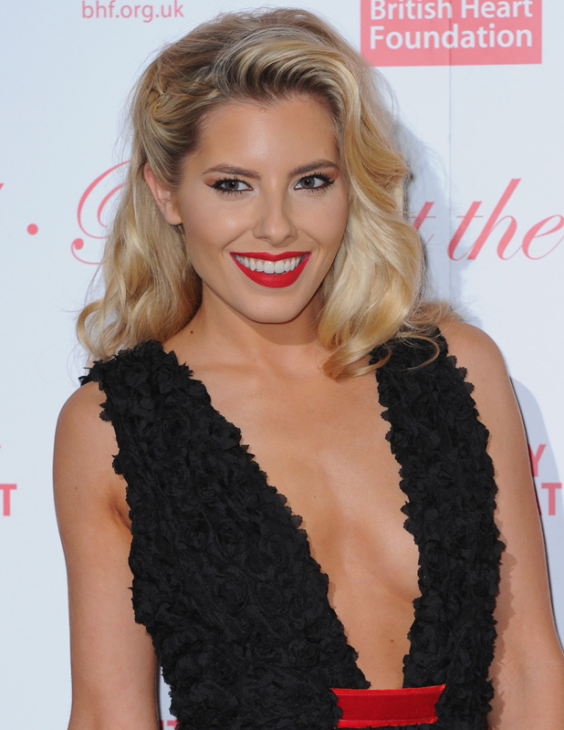 Mollie King at British Heart Foundation Roll Out The Red Ball on 10 February 2015