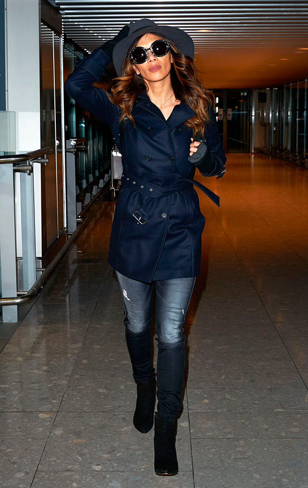 Nicole Scherzinger at Heathrow Airport, London, Britain - 09 Feb 2015