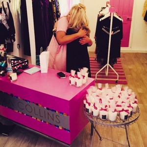 Gemma Collins gets a visit at her boutique from I'm A Celeb pal Kendra Wilkinson, 21 February 2015
