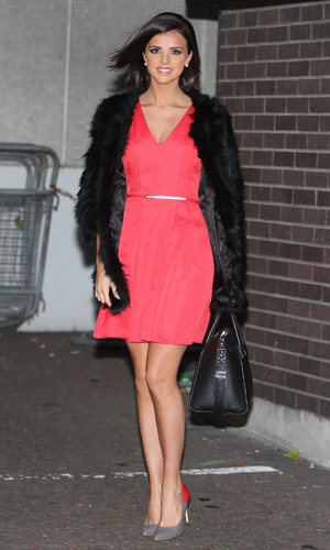 Lucy Mecklenburgh outside the ITV studios in London - 01/21/2015.