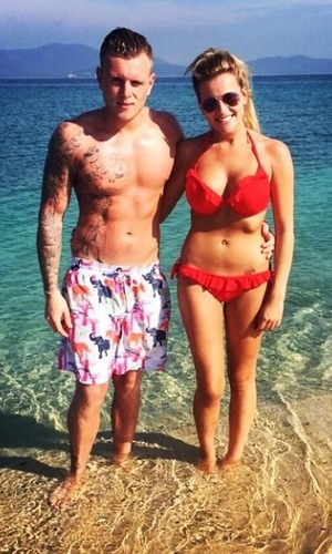 The Only Way Is Essex's Tommy and Georgia on holiday in Thailand - 16 January 2015.