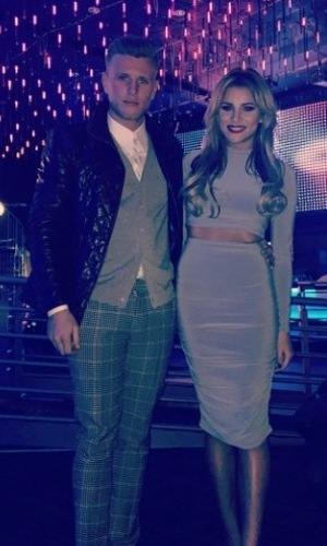 The Only Way Is Essex's Tommy and Georgia on Valentine's Day - 14/2/2015.
