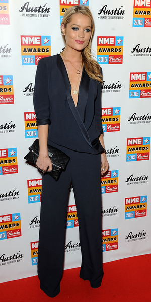 Laura Whitmore arrives at the NME Awards, Brixton, London 18 February