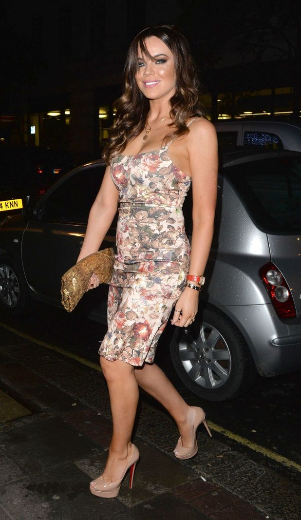 Maria Fowler steps out for night out in Mayfair in floral printed dress