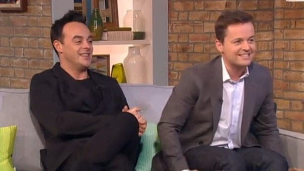 Ant McPartlin and Declan Donnelly appear on This Morning - 20 February 2015