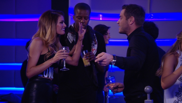 Elliott Wright and Chloe Sims clash as TOWIE series 14 kicks off, 22 February 2015.