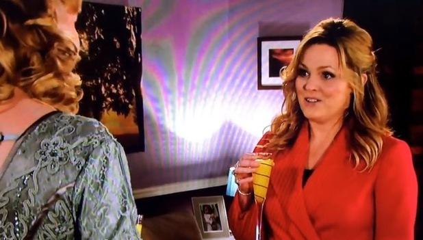Jo Joyner fluffs her lines on EastEnders live episode - 18 Feb 2015