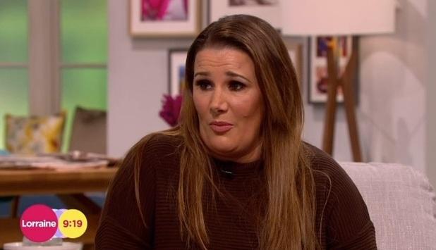 Sam Bailey on ITV's Lorraine, 18 February 2015